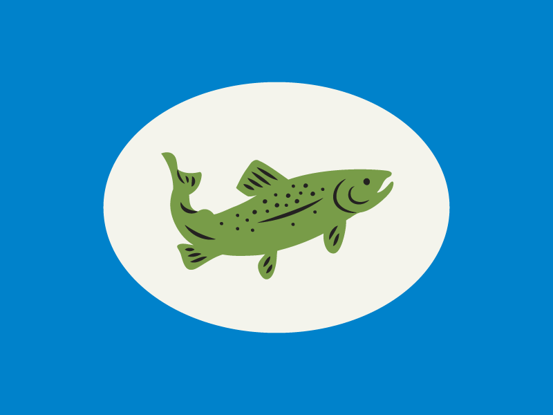 Trout Icon water branding iconography virginia rappahannock river fishing outdoors illustration icon fish trout