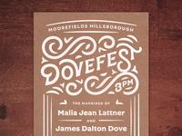 Dovefest Wedding Invite