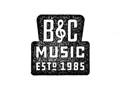 B&C Music Logo ddc draplin classic southern south 1985 texture alabama music stamp branding logo