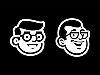 Dude Solutions north carolina branding glasses man logomark tech durham raleigh dude logo icon