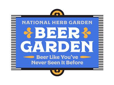 National Arboretum Beer Garden lockup type typography garden washington dc heart regina signage arboretum usa beer garden beer