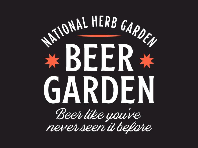 Beer Garden Lockup wildlife outdoors nature signage beer branding logo badge type typography garden beer