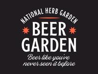 Beer Garden Lockup