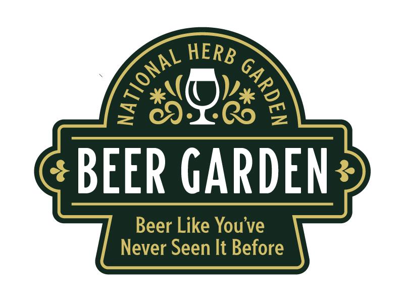 Beer Garden Badge beer branding washington dc nature hops lock up typogaphy logo patch badge beer garden beer