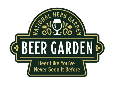 Beer Garden Badge beer branding washington dc nature hops lock up typogaphy logo patch badge beer garden beer