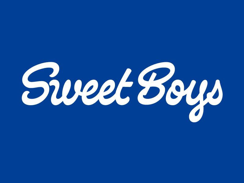 Sweet Boys Chicago Pizza pizza branding pizza logo brush sweet boys branding chicago script lettering typography type logo pizza