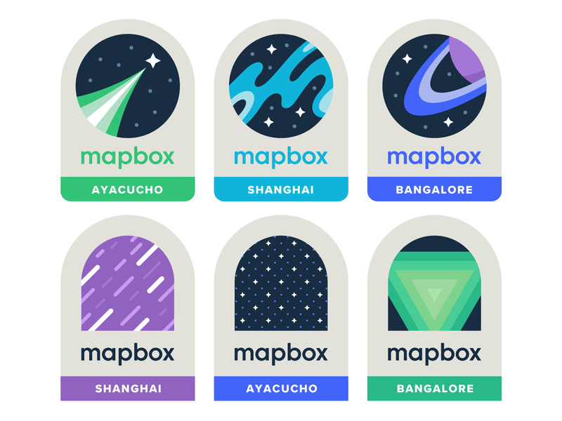 Mapbox Location Patches pattern stars saturn cartography maps map astronomy space washington dc shanghai ayacucho bangalore patch badge patches mapbox