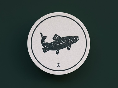 RRC Coasters illustration branding logo north carolina river letterpress beer coaster fox cardinal nature outdoors fish trout virginia rappahannock print