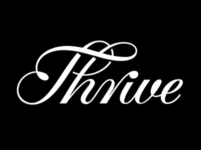 Thrive Script type typography logotype swash ligature north carolina durham vector art hand lettering script thrive lettering