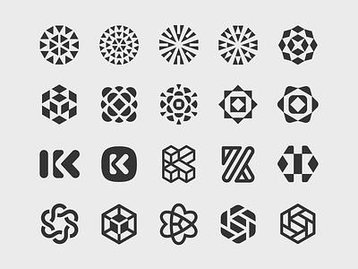Kaleido Logomark Evolution logo design technology icons k monogram raleigh blockchain tech logo technology tech startup kaleido kaleidoscope logomark logo