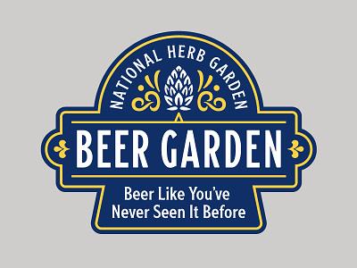Beer Garden Logo hops beer garden beer arboretum washington dc outdoors badge branding logo type typography