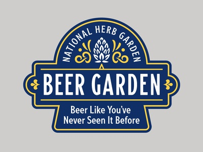 Beer Garden Logo hops beer garden beer arboretum washington dc outdoors badge branding logo type typography