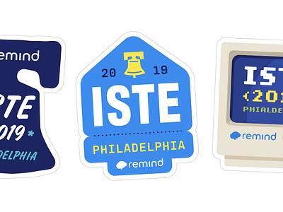 ISTE Sticker type liberty bell iste sticker design tech logo education tech san francisco philadelphia typography sticker