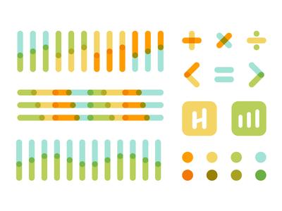 The Hill Center dove durham north carolina branding design technology math color palette color pattern logo branding education
