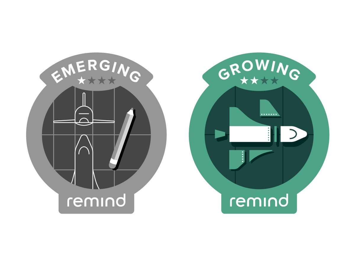 Remind Engagement Badges shuttle badge design emerge drafting san francisco remind nasa stars space pencil illustration patch badge