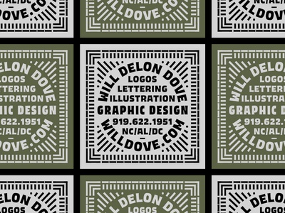 Contact Card typography badge branding dove lettering print design retro border lockup type busniess card