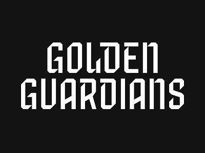 Golden Guardians branding type typography logo jersey shield blackletter bay area san francisco sword gold golden guardians