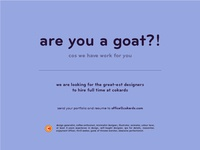 are you a goat?!