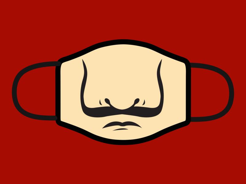 Salvador Dali Mask – Money Heist Inspired vector design illustration