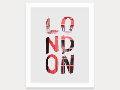 L O N D O N Art Print