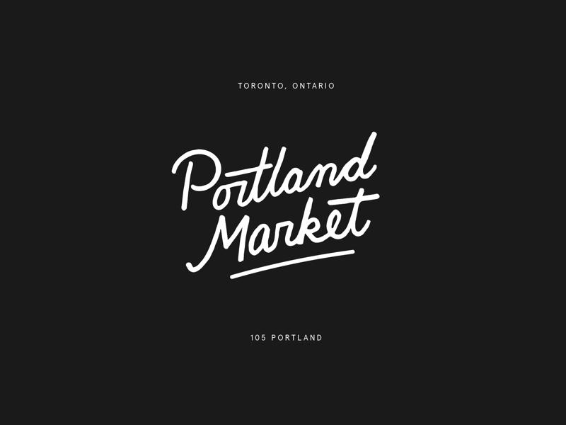 portland market handlettering logo identity lettering branding