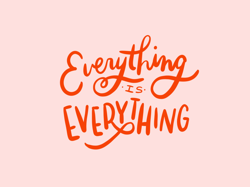 everything handlettering typography lettering