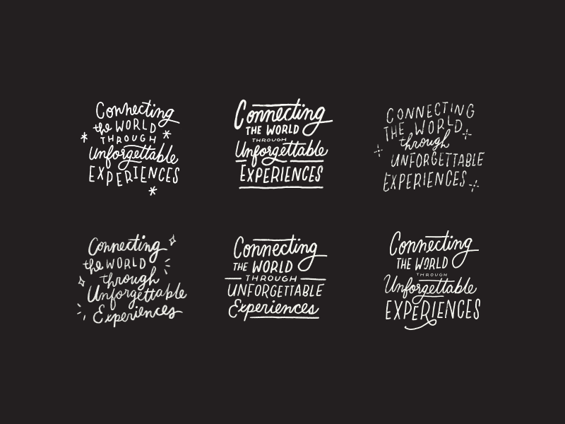 connecting the world. calligraphy lettering handlettering