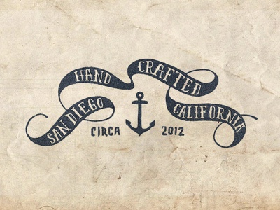 Cross Fit Banner banner nautical navy type anchor texture hand made hand drawn
