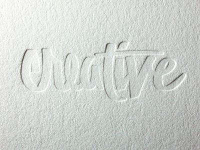 Creative Blind letterpress diy print typography script craft hand made