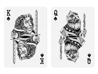 King And Queen Spades Dribbble