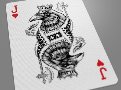 Jack Of Hearts Dribbble crow jack of hearts playing card