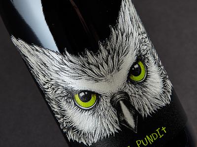Pundit Dribbble cut die emboss sculpted drawing bird owl pundit