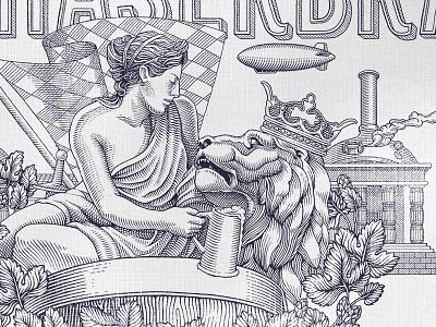 Mathaserbrau beer illustration