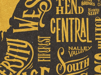 Tacomap Detail drawn hand typography type map tacoma