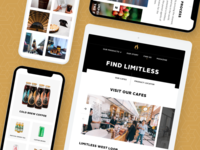 Limitless Coffee & Tea – Responsive Experience