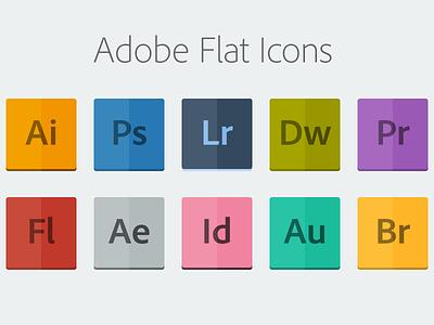 Adobe Flat Icons [PSD] icons flat adobe cs7 psd freebie