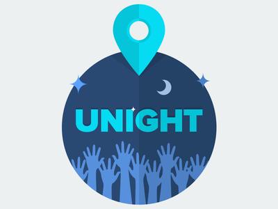 Flat Logo flat logo design map pin party night