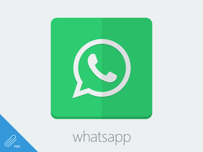 Flat Whatsapp Icon [PSD]