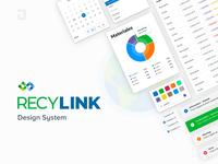 Recylink Design System ui design buttons input card form design system system design ux ui