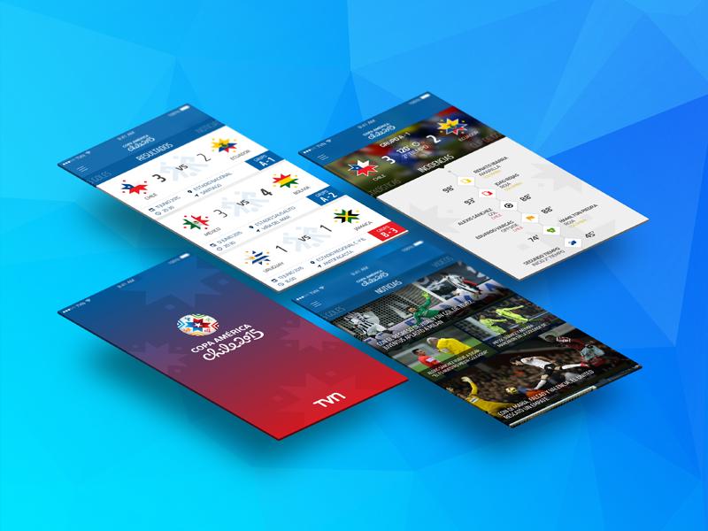 Copa America 2015 - App [WIP] copa america 2015 copa america tvn soccer fútbol football app ios chile feed score fixture