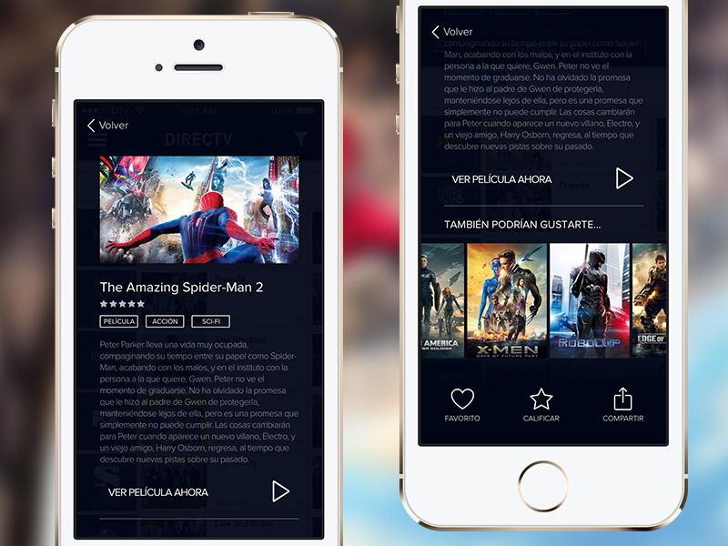Movie Preview recommend share play iphone amazing spiderman profile poster movie ios app