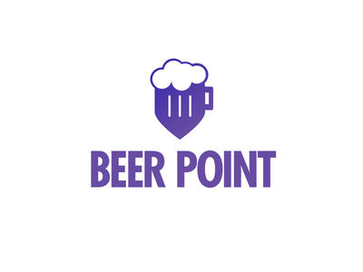 Beer Point night nightlife party map pin logo point beer