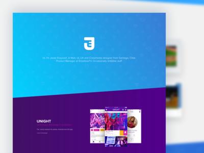 Portfolio Redesign 2016 android ios apps unight gradient color web redesign portfolio