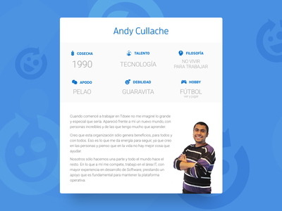 Co-Founder Card person user tdoee profile card user card