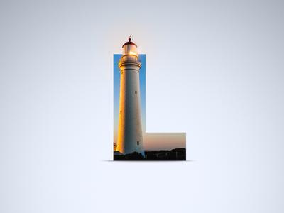 L - Lighthouse proxima proxima nova shadow light lighthouse sky letter l