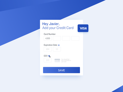 Daily UI - 002 - Credit Card Checkout daily ui daily form credit card ccv card screen 002