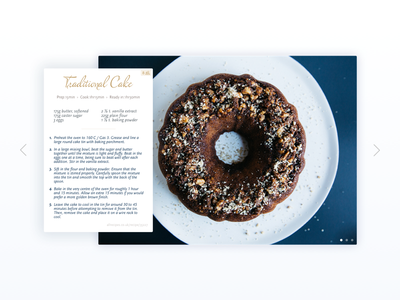 Recipe Card daily scala slider slideshow list shadow ui food recipe card