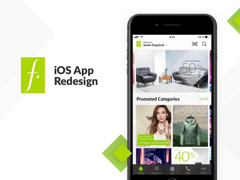 Falabella iOS Redesign Concept iphone android ios 11 falabella redesign app ux ios