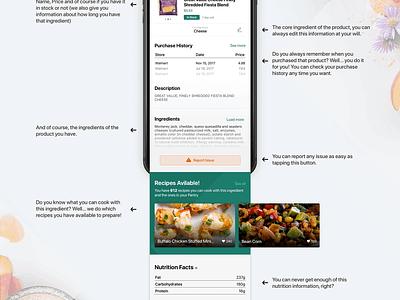 Cooklist iOS Design Concept food recipes feed swipe iphone ios 11 cooklist design app ux ios