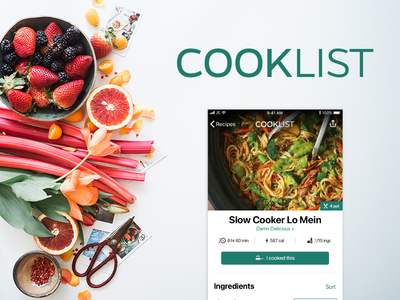 Cooklist iOS Design Concept